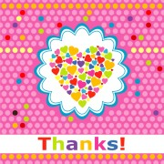 Link toCute round dot heart greeting card vector graphics