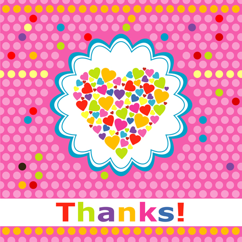 Free eps file cute round dot heart greeting card vector graphics