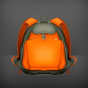 Link toCute school bag design vector 01