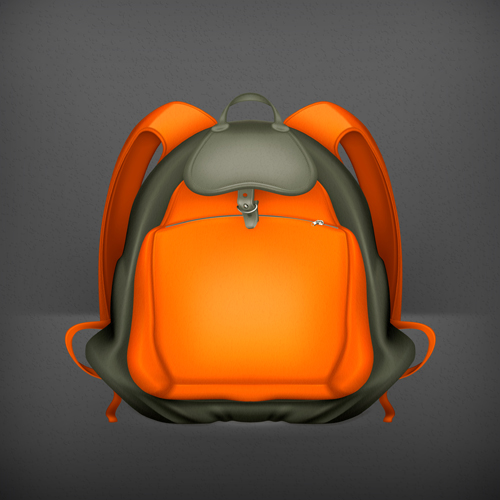 Cute school bag design vector 01