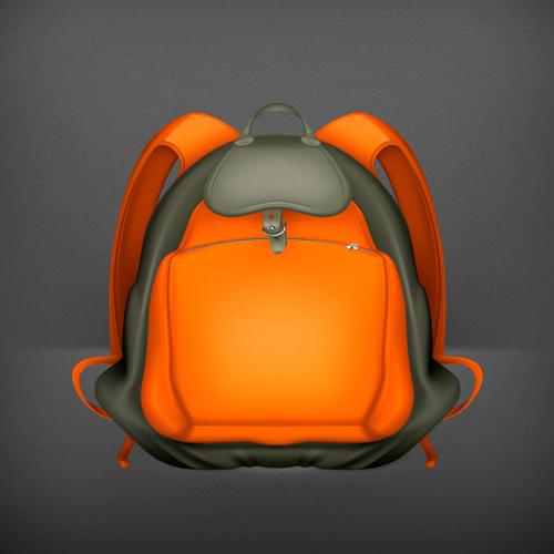 School bag vector download