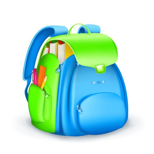 Cute School Bag Design Vector 03 Other Free Download