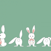 Link toCute white rabbit vector material