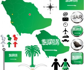 Different countries flags with map and symbols design vector 05