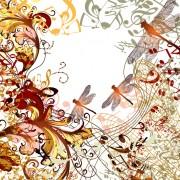Link toDragonflies and music design vector
