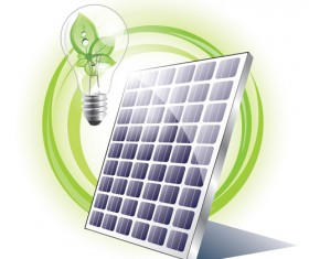 Ecology solar panel creative vector 01