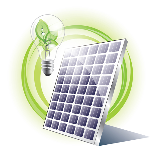 ecology solar panel creative vector 01 - vector other free download, Powerpoint templates