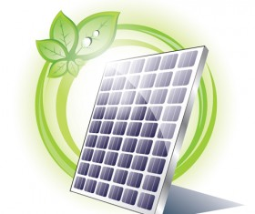 Ecology solar panel creative vector 02