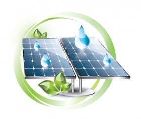 Ecology solar panel creative vector 03