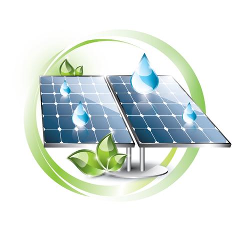Ecology solar panel creative vector 03