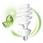 Link toEcology with energy-saving lamps vector