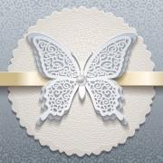 Link toElegant butterflies vintage card vector material 04