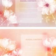 Link toElegant dream flowers background vector 04