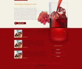 Elegant drink website template psd material