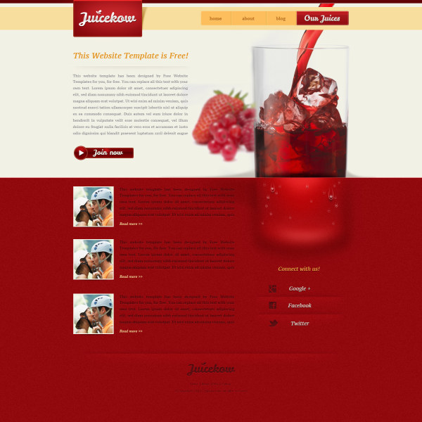 Website template #25350 icemark water drink custom website.