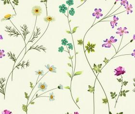 Elegant floral pattern vector material set 02
