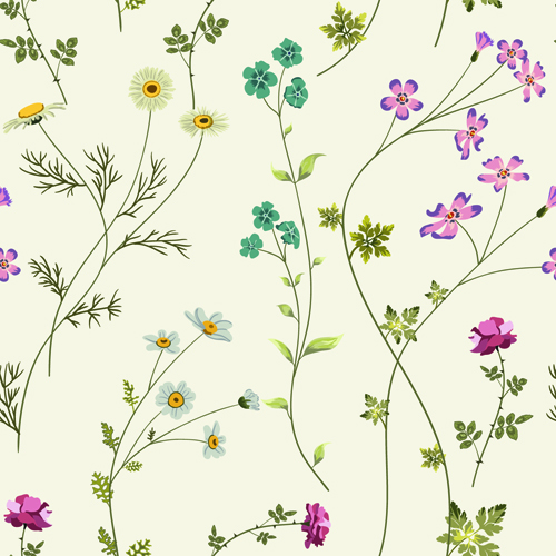 elegant floral pattern vector material set 02 free download