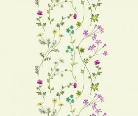 Elegant floral pattern vector material set 03