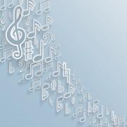 Link toElegant music note background vector set 01