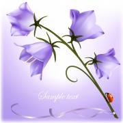 Link toElegant purple flower background art vector 01