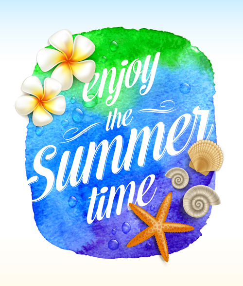 Enjoy summer time creative vector material 02 - Vector Background free download