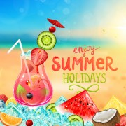 Enjoy tropical summer holidays backgrounds vector 02