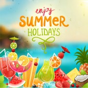 Enjoy tropical summer holidays backgrounds vector 04