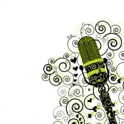 Link toFloral microphone vector material