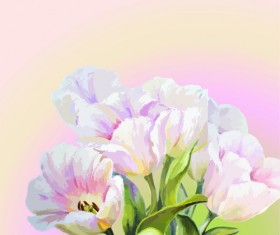 Hand drawn watercolor flower background 04