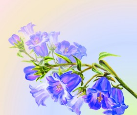 Hand drawn watercolor flower background 05