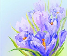 Hand drawn watercolor flower background 06