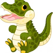 Funny cartoon baby crocodile vector