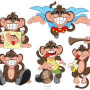 Link toFunny cartoon monkey vector icons vector and photoshop brushes