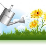 Link toGarden watering design vector graphics 02