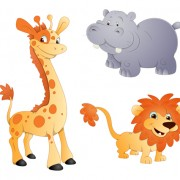 Link toGiraffes elephants and lions icons vector and photoshop brushes