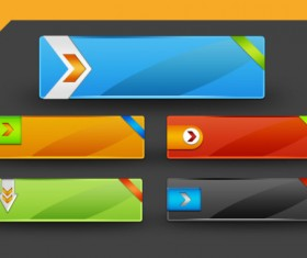 Glass texture colored buttons psd
