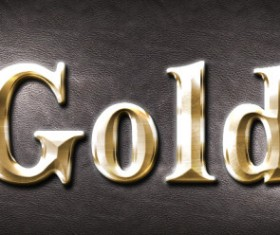 Gold metallic Photoshop styles