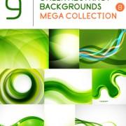 Link toGreen abstract background art vector set 01