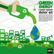 Link toGreen ecology city concept design vector 05