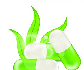 Green medical capsule design vector 01