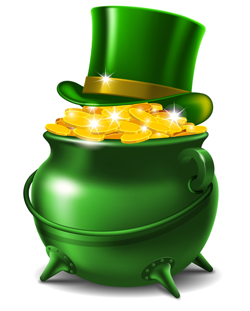 Green Pot Of Gold Clipart Green money cans and c...