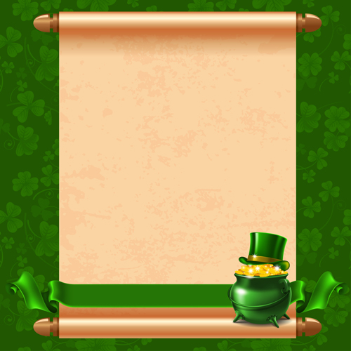 green saint patrick day background vector 02 free download