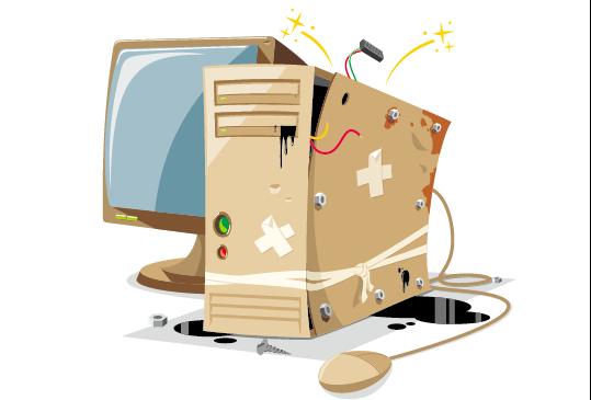 Grunge household appliances design vector graphics 04