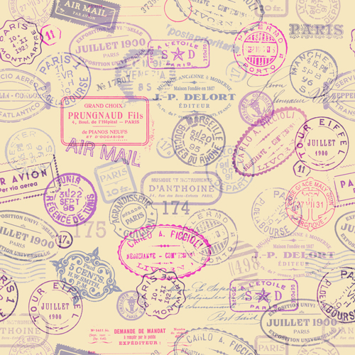 Grunge Travel Stamps Vector Graphics 04