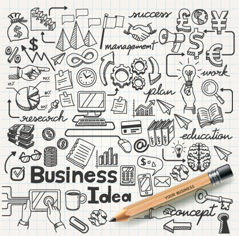 Hand Drawn Business Infographics Elements Vector Free Download