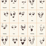 Link toHand drawn funny expressions vector icons