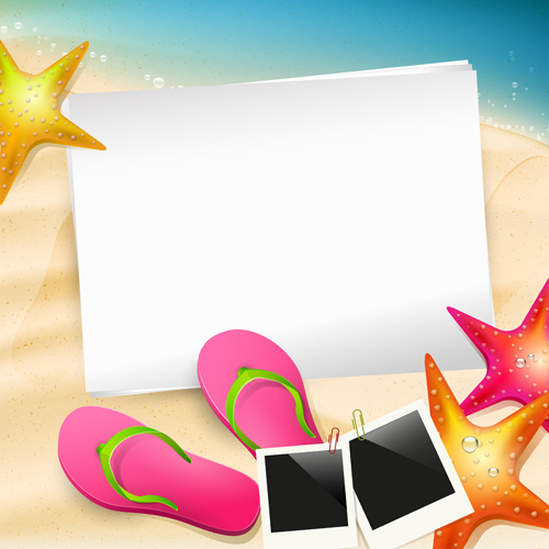Happy summer holidays elements vector background 01