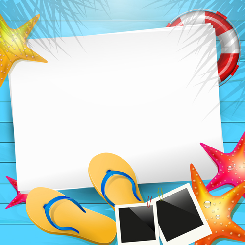 Happy summer holidays elements vector background 02 free ...