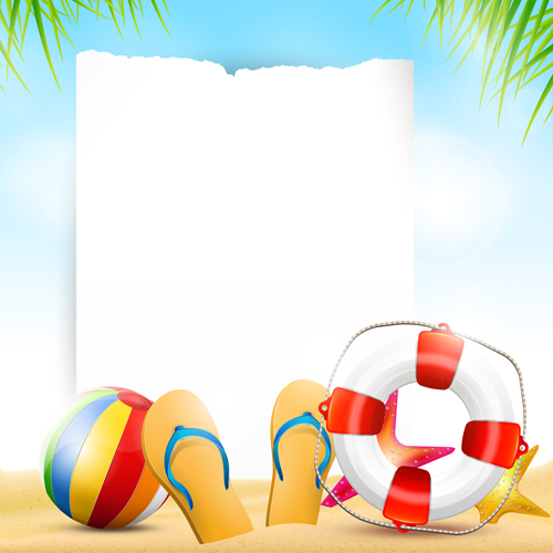 Happy summer holidays elements vector background 03 ...