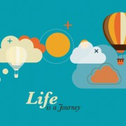 Link toHot air balloon and clouds creative vector